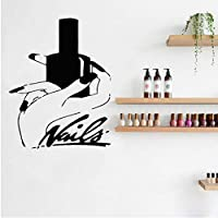 Dxyily Wall Stickers Nail Stylist Nail Polish Girl Hand Wall Decal Nails Art Manicure Pedicure Service Stickers Home Decor Girls Beauty Salon 56X70Cm