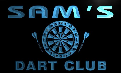 ts192-b-sams-dart-club-bar-beer-pub-game-room-neon-light-sign