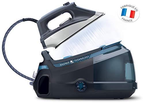 Rowenta DG8961F0 Centrale Vapeur Haute Pression Silence Steam 6,5 bars Effet Pressing jusqu'à 420g/min Silencieux Générateur Repassage Bleu