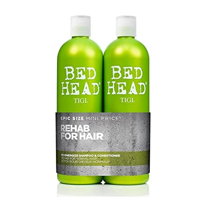 BED HEAD by TIGI Urban Antidotes Re-energize™ Tween Duo Daily Shampoo & conditioner for Normal Hair 2x750 ml - cheap UK light shop.