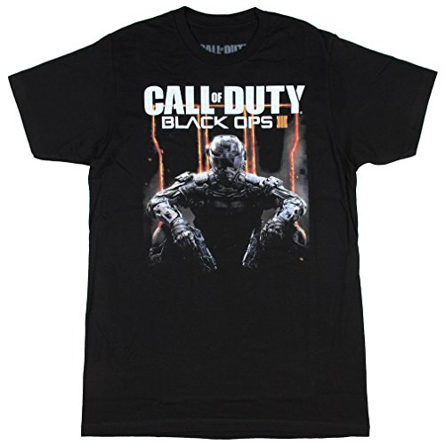 Call of Duty Black Ops 3 Character Logo Adult T-Shirt X-Large (Ops Kostüm Black)