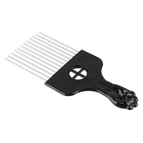 Beauty7 Peigne Brosse Large Dent en Metal Pik Plastique Cheveux Poignée Pour Afro Bouclés Coiffure Comb