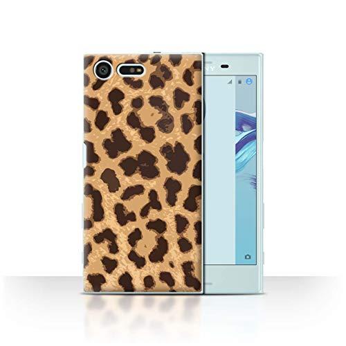 eSwish Custodia/Cover/Caso/Cassa Rigide/Prottetiva Stampata con Il Disegno Modello Stampa Animale Moda per Sony Xperia X Compact - Ghepardo/Leopardo