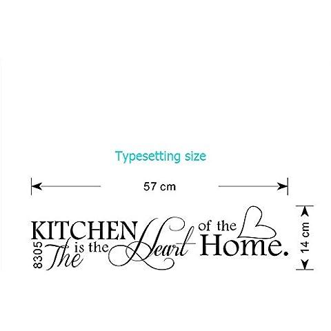 Ecloud Shop® Calidad superior extraíble cocina telón Pegatinas de pared Decoración caliente