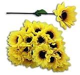 HAAC 20er Set künstliche Sonnenblume Sonnenblumen 17 cm