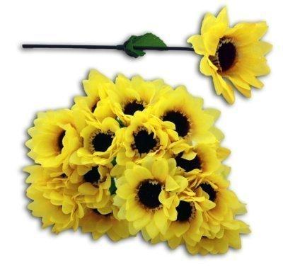 Sonnenblume (HAAC 20er Set künstliche Sonnenblume Sonnenblumen 17 cm)