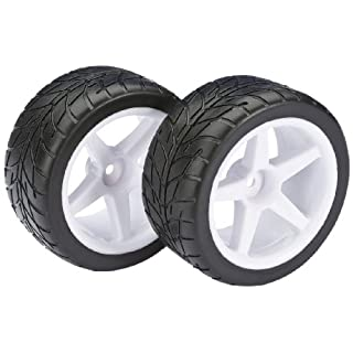 Absima – Wheel Set Buggy 5-Spoke/Street Rear White 1:10 (2) (2500008)
