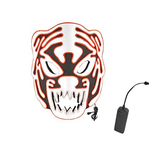 Das Kostüm Glänzende Gruppe - Neubula Halloween Kostüme,Halloween Maske LED Maske Glow Scary Maske leuchtet Cosplay Maske,Besteht aus Hochwertigem PVC und EL Kaltem Licht,Harmlos für den menschlichen Körper