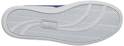 Puma Smash Fun L Jr, Scarpe da Ginnastica Basse Unisex – Bambini Bianco (Puma White-true Blue 12)