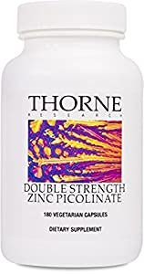 Thorne Research - Double Strength Zinc Picolinate - Well-Absorbed Zinc Supplement - 180 Capsules from Thorne Research