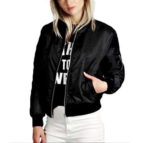 YSTWLKJ Damen Bomberjacke Blouson Mode Vintage College Jacke Blazer Bikerjacke Fliegerjacke Trenchcoat -