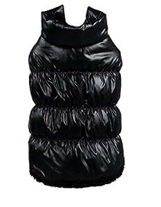 La Vogue-Cappotto di Cotone Giacca Casual per Cane Invernale Nero Misura 2XL