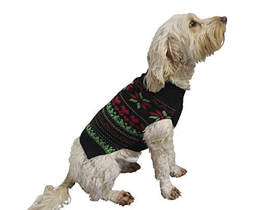 Rosewood Fair Isle Cosy Christmas Jumper for Dogs, Medium/Large ...