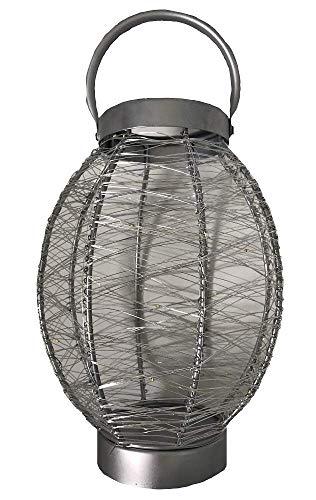 LED Exterior / Interior Farol Colgante With 40 Brillante Luces LED Funciona con Pilas Plata