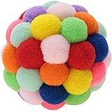 HEEPDD Bunte Katze Ball, handgefertigter Plüsch-Flummi mit Katzenminze und Bell-Interaktives Spielzeug für Katzen Kätzchen Ausbildung(S)
