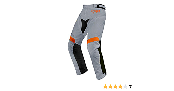 Grey, W34 L34 JET Mens Motorcycle Motorbike Textile CE Armoured Waterproof Trousers Pants Protective Premium Touring