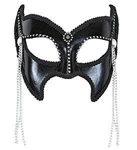 Widmann 03627–Maske Domino Gran Gala Sadomaso mit Strass und Perlen, (Maske Gala Erwachsene Für)