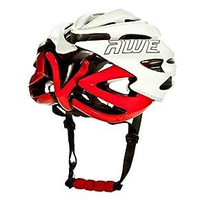 AWE® AWESpeed™ In Mould Casco de ciclismo en ruta para hombres adultos 58-61cm Blanco, rojo