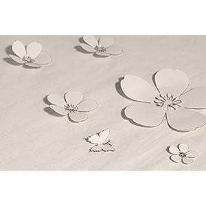 Streugut Konfetti Kirschblüte weiß perlmutt5 cm Set a 10 Stk.
