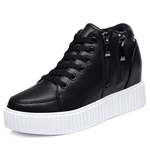 MISS&YG Laufschuhe Damen atmungsaktive Stoßdämpfer Schuhe atmungsaktive Outdoor-Fitness-Laufschuhe,Black,39