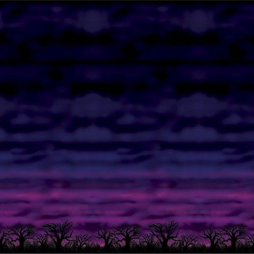 SPOOKY Sky Hintergrund 4'x (Scene Setter Halloween Hintergründe &)