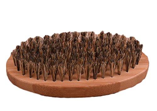 Lumanuby 1 Stück Bürsten,Massage-Tool für die Massage der Haut, Gestaltung der Haare und Bart-Stil, Bambus und Schwein Mähne Material, Holzfarbe, Größe: ca.11.5*5.3*3.5cm