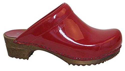 Sanita Classic Patent open, Damen Clogs Rot