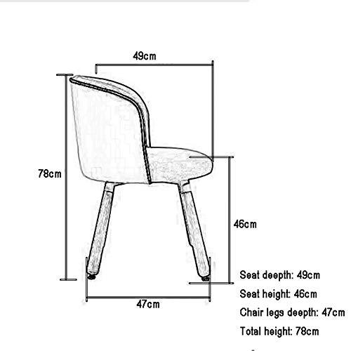 ZZV Schaukelstuhl Hellgrauer Rocker Relax Chair Loungesessel Lehnstuhl Leinen mit gepolsterter Sitzfläche (Color : Blue)
