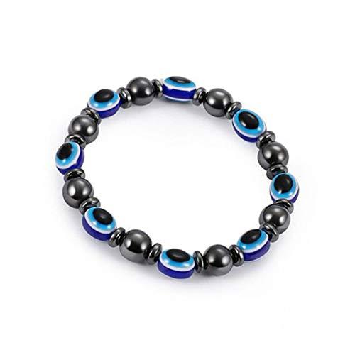 Mypace Silber Gold 925 Armreif Für Damen Herren Magnet-Gesundheit, die Armband-Armband-Schmuck-magnetisches Weightloss-Armband abnimmt (Dunkelblau) - Magnetische Anhänger