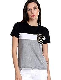 Mitaha Women Girls Latest Tops Cotton Top for Women Tshirt T-Shirt Casual Women/Girls Tops