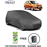 Fabtec Heavy Duty Car Body Cover for Maruti Alto k10 with Storage Bag & Hanging Air Freshener Combo