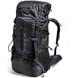 Steinwood Sac à dos de trekking 70L - Sac à dos de voyages sac à dos pour Backpacker sac à dos extérieur sac à dos randonnée sac à dos imperméable avec housse de pluie