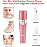 Yozo Expert Electric 4 in 1 Attachments Trimmer for Women Specially Designed for Bikini, Eyebrow, Nose, Underarm,Leg, Face Hairs - Waterproof