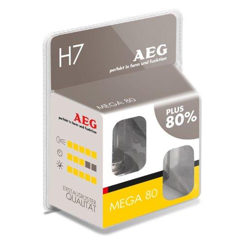 AEG Automotive 97267 Glühlampe Mega 80 H7, 55 W, 2-er Set