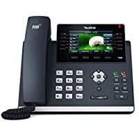 يالينك T46S IP phone ، 16 خطوط. 4.3 بوصة LCD اللون. مقبس جيجابت إيثرنت ثنائي المنفذ ، 802.3 وات PoE ، محول الطاقة غير مدرج (SIP-T46S)