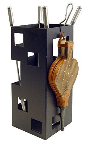 Imex El Zorro 10046Kamin-Set, quadratisch, Zubehör aus Edelstahl und Blasebalg, 50x 20x 20cm