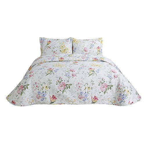 Hilin Bettwäsche-Set, Mikrofaser, wendbar, für Doppelbett/Queen/King-Size-Betten mit Betten, als Tagesdecke, Decke oder Bettbezug, weich, leicht und hypoallergen Twin Versilia Orignin
