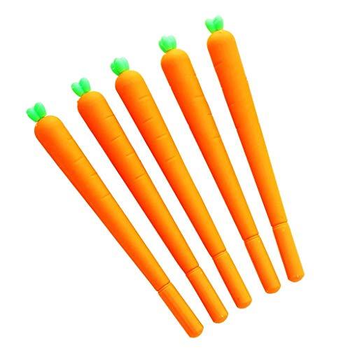 Ogquaton Zanahoria en forma de bolígrafo creativo de hortalizas en forma de bolígrafo novedad juguetes para niños lindo regalo de papelería escolar