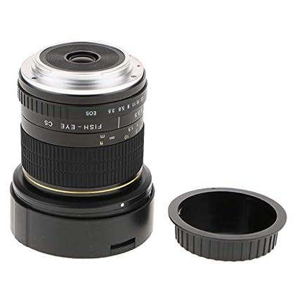 Baoblaze F3.5-F22 Objetivo Fijo 8 mm para Canon APS-C Cámara de Fotograma Completo