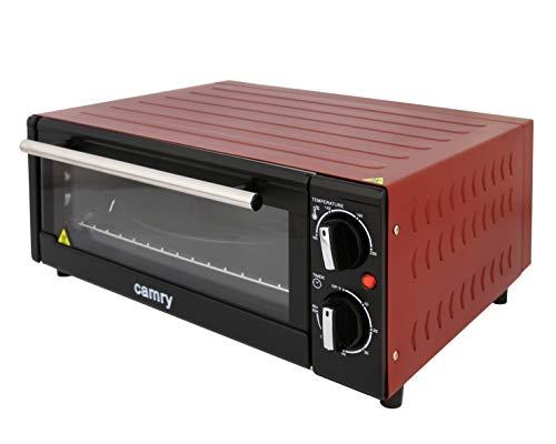 Camry CR-6015-R Horno para Pizza Eléctrico de Sobremesa, Acero Inoxidable, Convección, 1300W,...