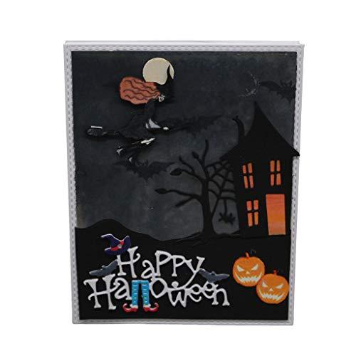 JimTw-UK Halloween-Spukhaus, Stanzschablone, Schablone, für Scrapbooking, Prägung, Papier, Karten, Heimdekoration
