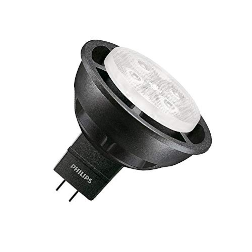 Lámpara LED GU5.3 MR16 Regulable Master 12V SpotLV VLE 6.3W 36º Black Blanco Neutro 4000K efectoLED