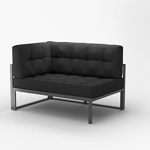 OSKAR Alu Lounge Gartenmöbel inkl. Palettenkissen mit Flockenfüllung Gartenlounge Sitzgarnitur...