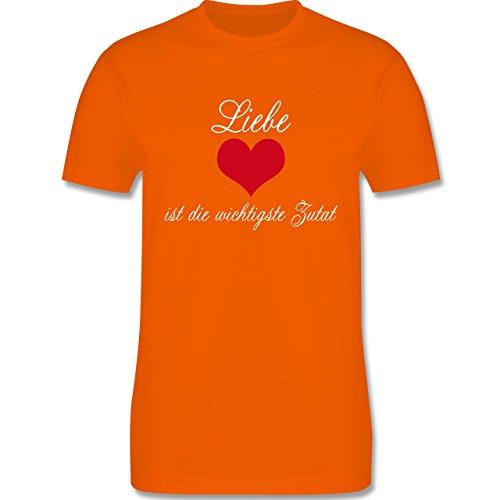 Küche - Liebe ist die wichtigste Zutat - Herren Premium T-Shirt Orange