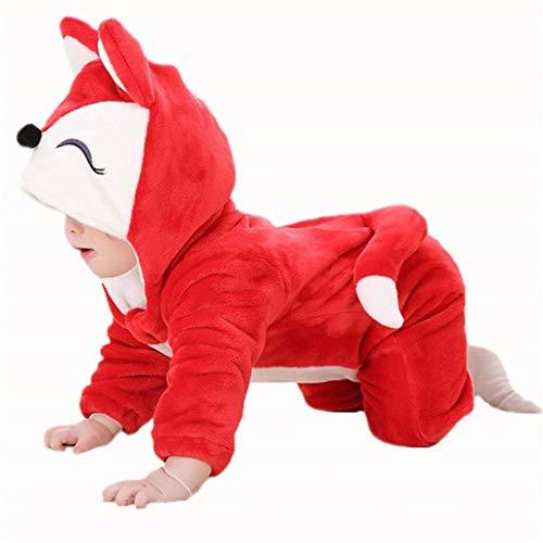 (Kostüm witzige Verkleidung, Strampler für Baby und Klein-Kind, mit süßer Stups-Nase und Ohren, Jumpsuit Tierkostüm für Fasching, Karneval)