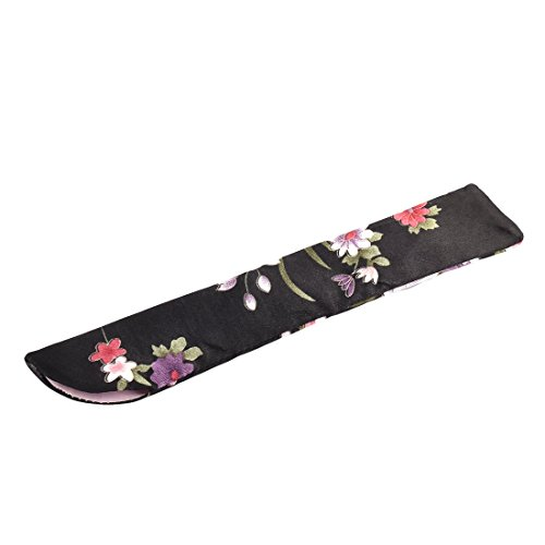 sourcingmap® Stoff Blumenmuster Gedruckte klassische Design Soft Hand Faltbare Fan Tasche de