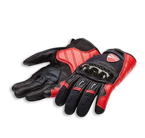 Ducati Alpinestars Company C1 Handschuhe aus Leder und Stoff schwarz/rot Größe 3XL