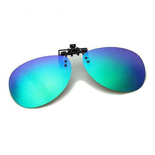 Mann, Frau, allgemein, Sonnenbrille, Mode, Freizeit, im Freien, Myopia Clip, grün, E0011