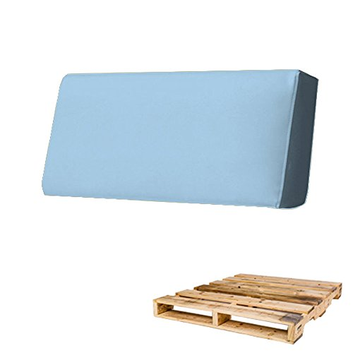 Arketicom Rückenlehne für Sofa Euro-Palette in verschiedenen Größen und Farben für innen und außen, hergestellt in Italien zeitgenössisch 120x30x15 Celeste Azzurro