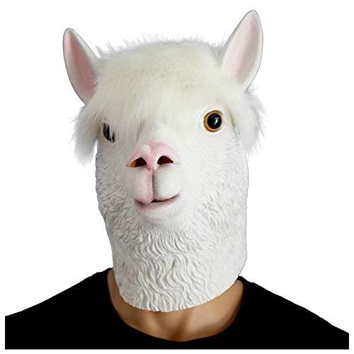 Maske YN Lustige Roman Alpaka Tier Kopfbedeckung Halloween -